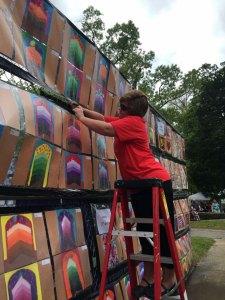 Putting up artwork